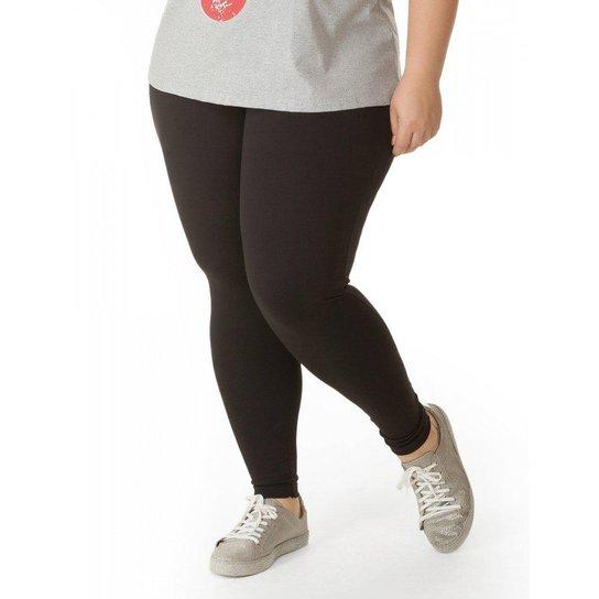 037f4c795 Calça Legging Preta em Ponto Roma Miss Masy Plus Size - Preto   Zattini