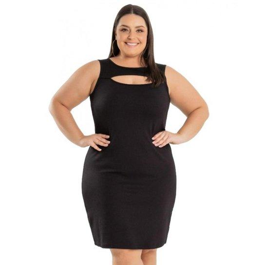 fff84316eb Vestido Beline Plus Size Tubinho Em Ponto Roma Miss Masy - Preto