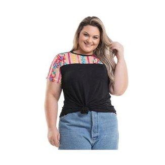 73267d260 Blusa Miss Masy Plus Size Viscolycra
