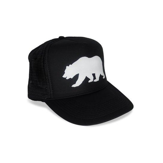 Boné Trucker California Bear - Preto - Compre Agora  a056fef767818