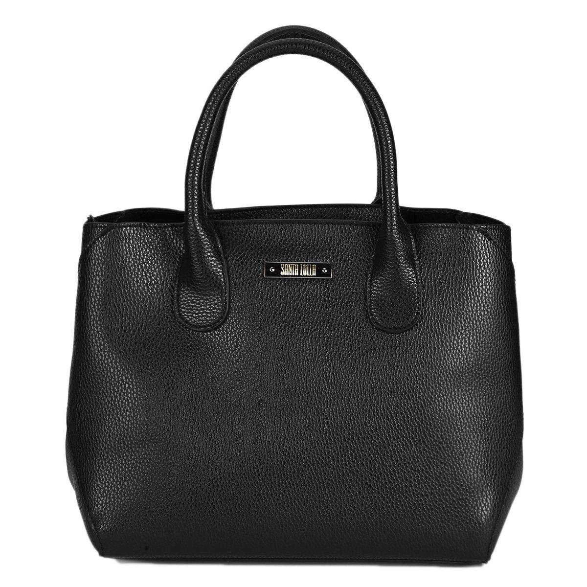 cb5b0404a Bolsa Santa Lolla Handbag Placa e Alça Transversal Feminina