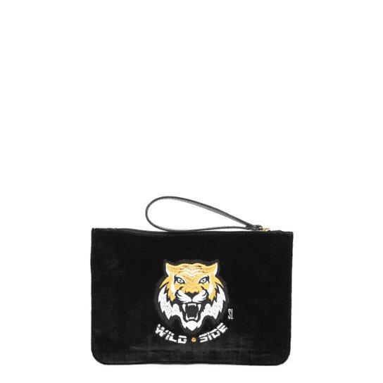 1d272ba13 Bolsa Santa Lolla Clutch Veludo Feminina - Compre Agora | Zattini