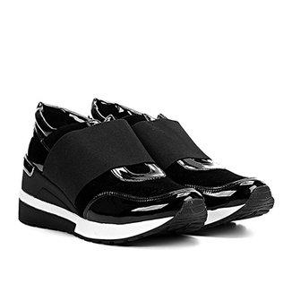 9ecb98d5e54 Tênis Santa Lolla Sneaker Elástico Verniz Feminino