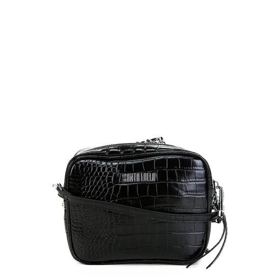 9b85086d64 Bolsa Santa Lolla Mini Bag Croco Feminina - Preto - Compre Agora ...