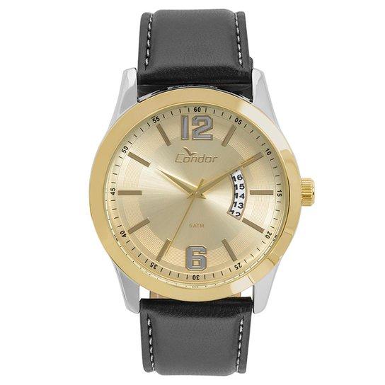 52f44b84074 Relógio Condor Masculino Casual Couro Bicolor - CO2115KSW 5D CO2115KSW 5D -  Preto