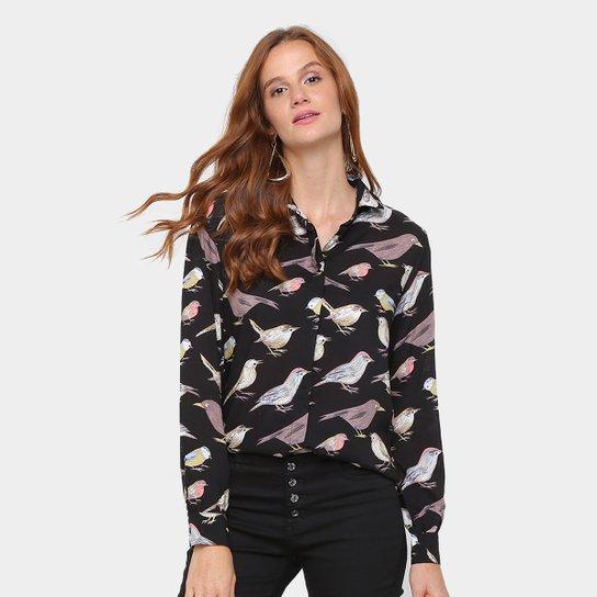 fe75a0d1aa Camisa Facinelli Estampa Pássaros Feminina - Compre Agora