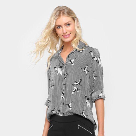 066bc6555 Camisa Facinelli Listrada Pássaros Feminina - Compre Agora