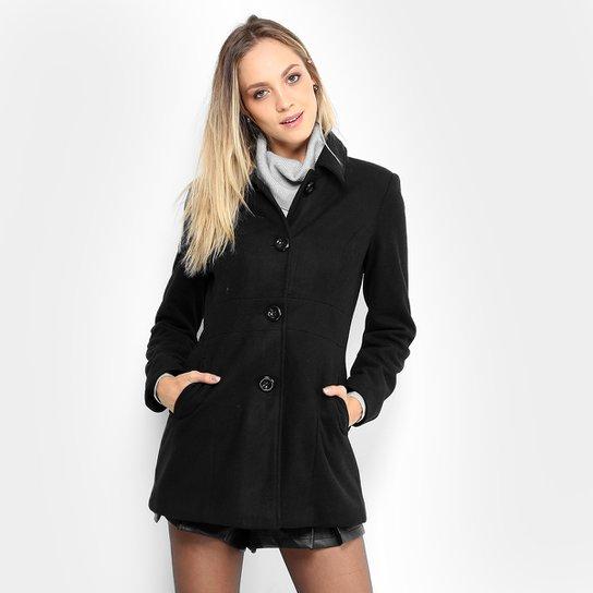 6199758e5 Casaco Facinelli Lã Botões Feminino - Compre Agora