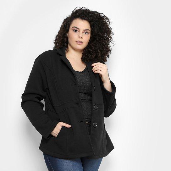 f9518a9f5 Casaco Facinelli Plus Size Botões Feminino - Compre Agora