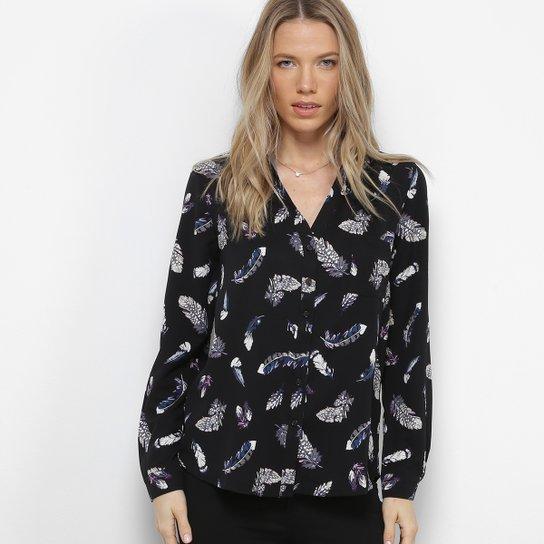 9c6682d26a Camisa Facinelli Estampada Pena Feminina - Compre Agora