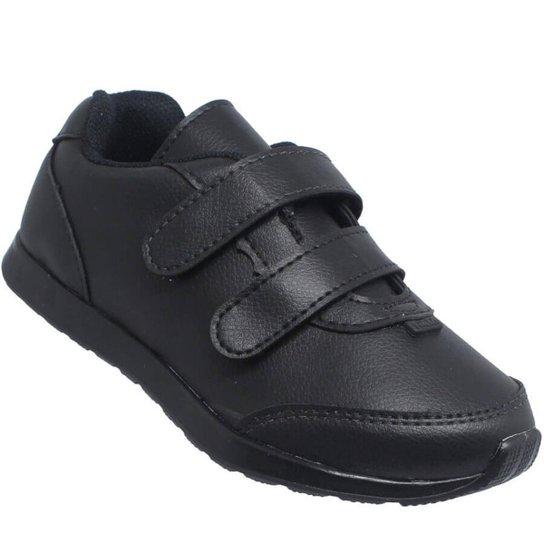 9fa24bf0fa Tênis Infantil Pinókio Escolar Velcro - Preto - Compre Agora