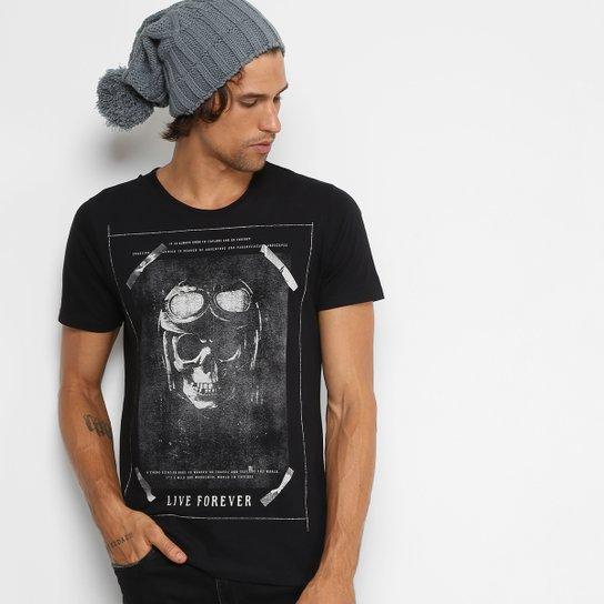 6aac69ab772b7 Camiseta Kohmar Gola Careca Estampa Caveira Masculina - Compre Agora ...