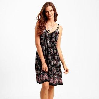 b7854bd7f Vestido Fiya Lady Amarração Estampado