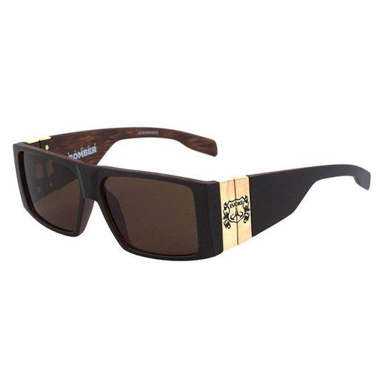 Óculos Evoke Bomber Black Wood Matte Black - Compre Agora   Zattini a8c874cec2