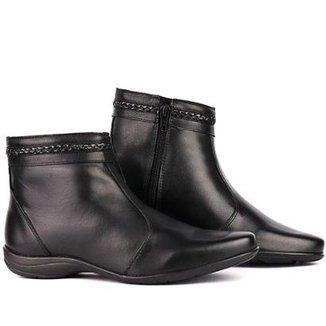 Bota Sapato Fran Coturno Cano Baixo Feminina b3b26a1160