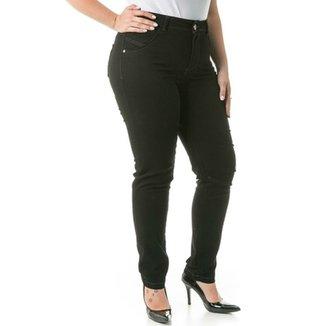 8b2a7d79a Calça Confidencial Extra Plus Size Jeans Cigarrete Feminina
