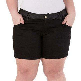 e06675b294ed3 Shorts Confidencial Extra Plus Size com Aplique nos Bolsos Feminino