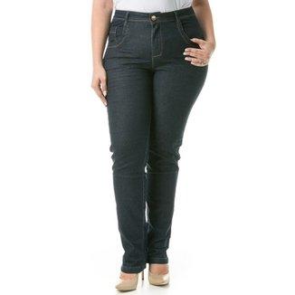 304cf8f28 Calça Confidencial Extra Plus Size Jeans Reta Feminina