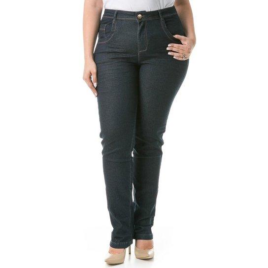 f6603de3e Calça Confidencial Extra Plus Size Jeans Reta Feminina - Compre ...
