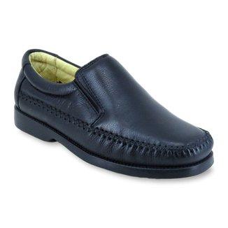 24a3caf80d Sapato Casual Masculino Enviamix em Couro