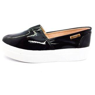 a24c3f6297 Tênis Slip On Quality Shoes Flatform Verniz Feminino