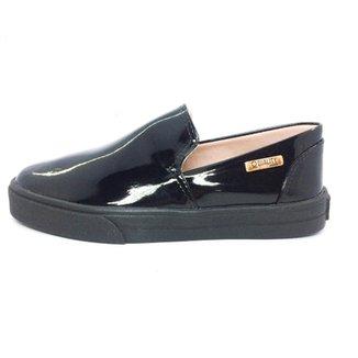 fd453fdbb9 Tênis Slip On Quality Shoes Verniz Feminino