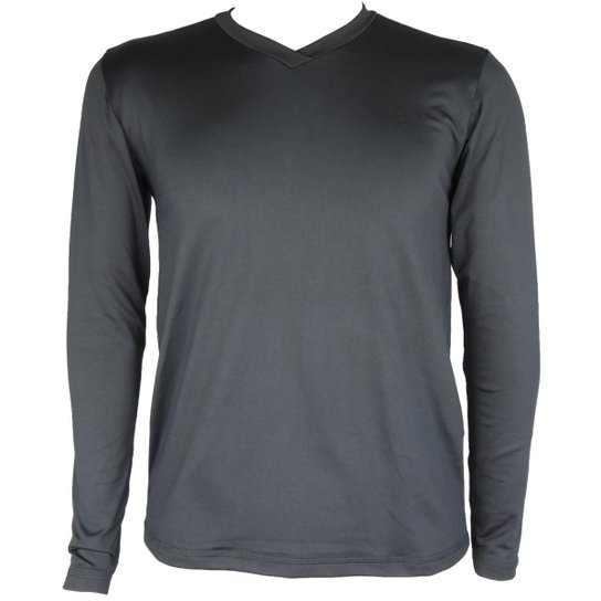 1c5e1098a6 Camisa Térmica Masculina Segunda Pele V Thermo Premium - Preto ...