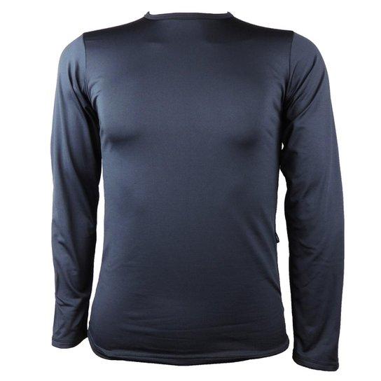 Camisa Térmica Masculina Segunda Pele Thermo Premium - Preto ... e1c67037664fb