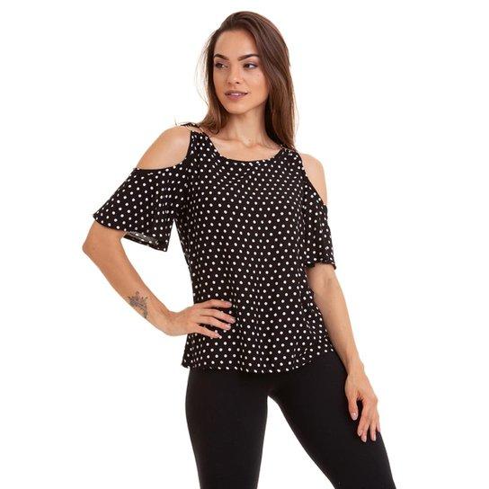 79f3a9302b Blusa Poá Kinara Viscose Ombro Vazado Feminina - Compre Agora