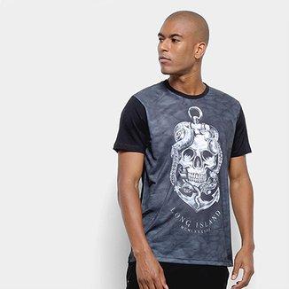 6c7e3aa409 Camiseta Long Island Skull Masculina