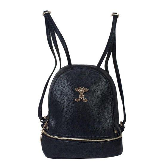 7e85d1da49 Bolsa Mochila Mickey Mouse Preta BMK78322 - Preto