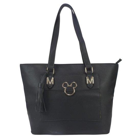 fbba2bbfd Bolsa Mickey Mouse Ombro Preta BMK78316 - Preto