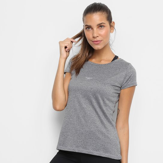 8c31b1ab7 Camiseta Speedo Blend Feminina - Chumbo | Zattini