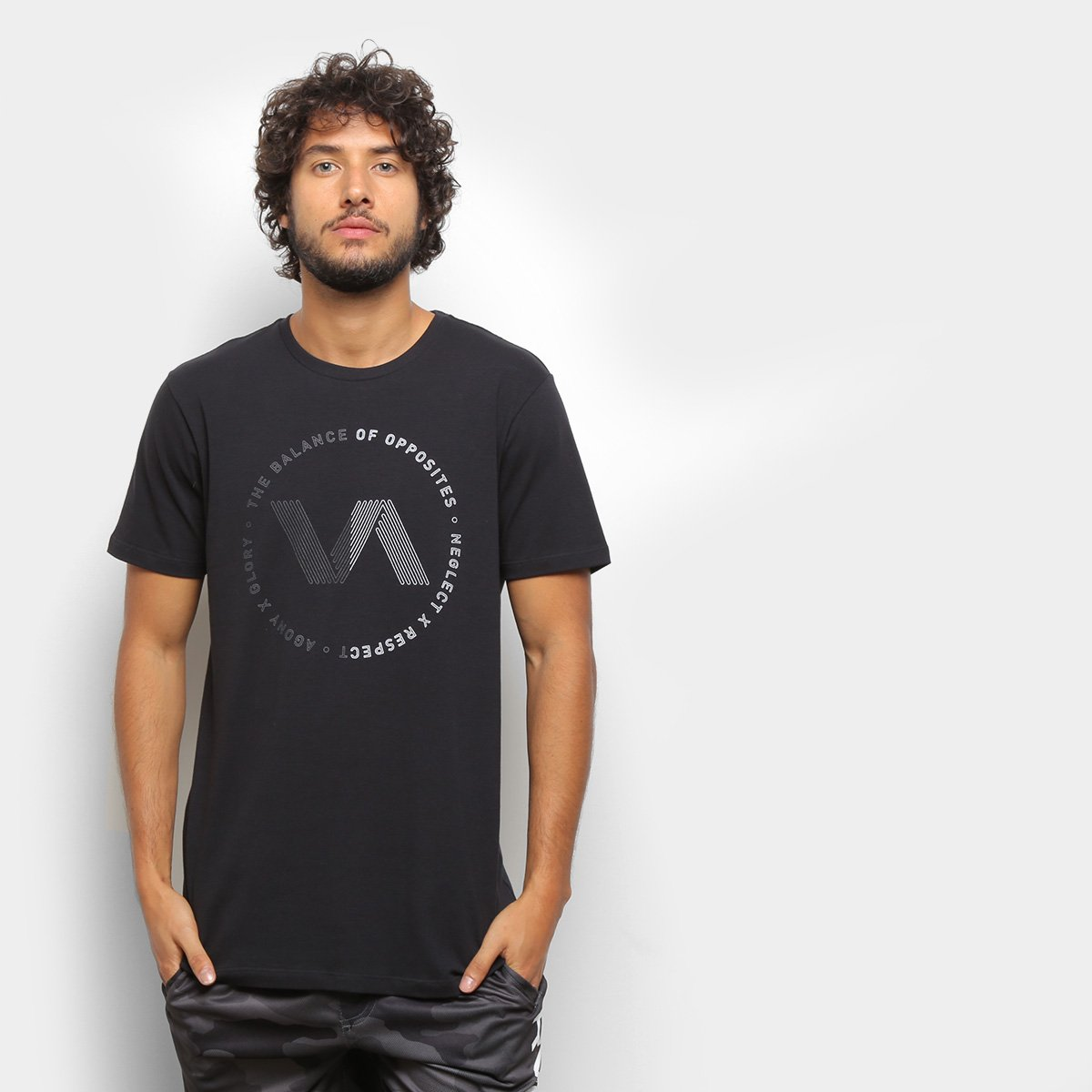 Camiseta RVCA VA Track Masculina