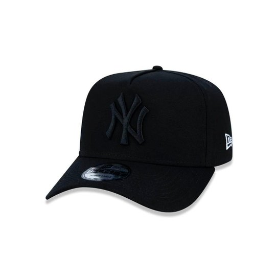 Boné 940 New York Yankees MLB Aba Curva Snapback New Era - Preto ... e24a61831fd16