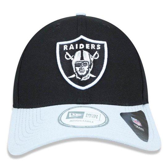 Boné New Era Aba Curva Snapback Oakland Raiders - Nfl - Compre Agora ... 431097a606c