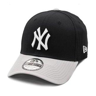 2a4a2347a8971 Boné New Era Aba Curva New York Yankees Black   Grey - Mlb