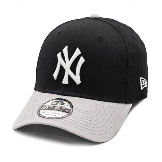 d5550b26fa939 Boné New Era Aba Curva New York Yankees Black   Grey - Mlb - Compre ...