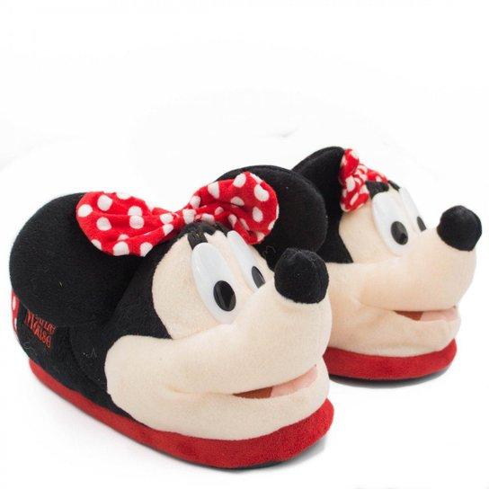 1c0fd7a0d Pantufa Ricsen Minnie Mouse Feminina - Preto | Zattini