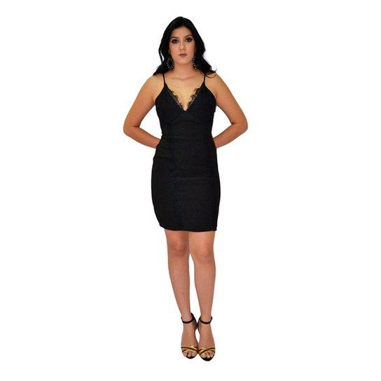 de724398e Vestido Liso Moché - Preto - Compre Agora | Zattini