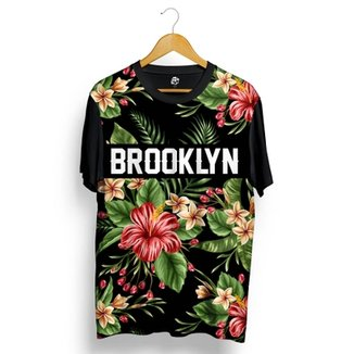 Camiseta BSC Brooklyn Flowers leaves Full Print fd029a029a