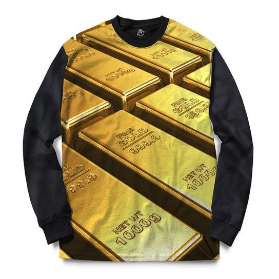 dbb82eff80ebd Blusa BSC Fine Gold Full Print - Compre Agora