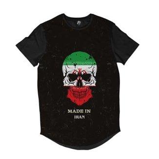 be723d1ee7 Camiseta Longline BSC Caveira País Irã Sublimada Masculina