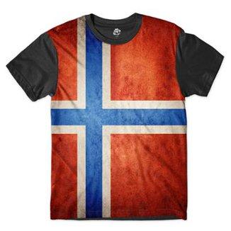 Camiseta BSC Bandeira Noruega Masculina 149e42ca454