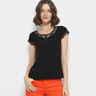 3f17ad5a0c Blusa Sofia Fashion Guipir Feminina