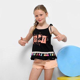 219563013ac Regata Infantil com Tassel Dimy Candy Feminina