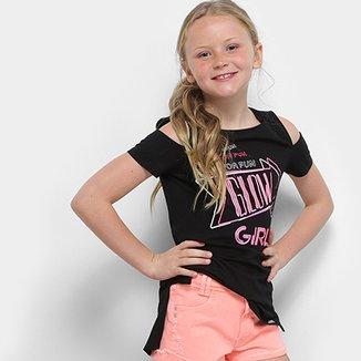 ee9e4b8292 Camiseta Infantil Dimy Candy com Termocolante Feminina