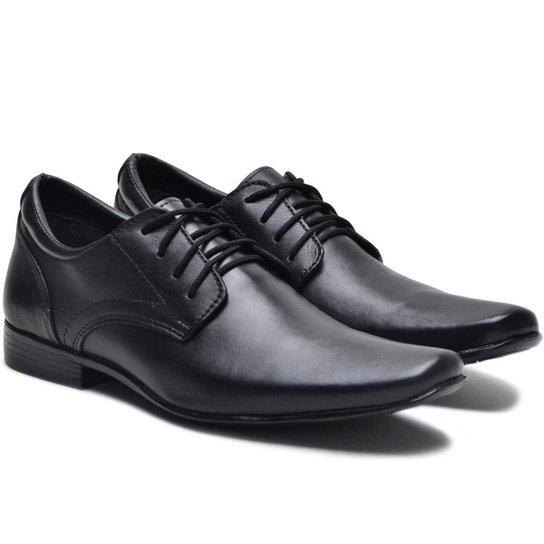 384ba05ca Sapato Social Couro Ded Calçados Com Cadarço Masculino - Preto | Zattini