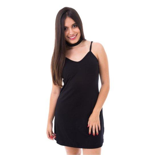 3c0f74b3e Slip Dress Moda Vicio Feminino - Preto - Compre Agora   Zattini