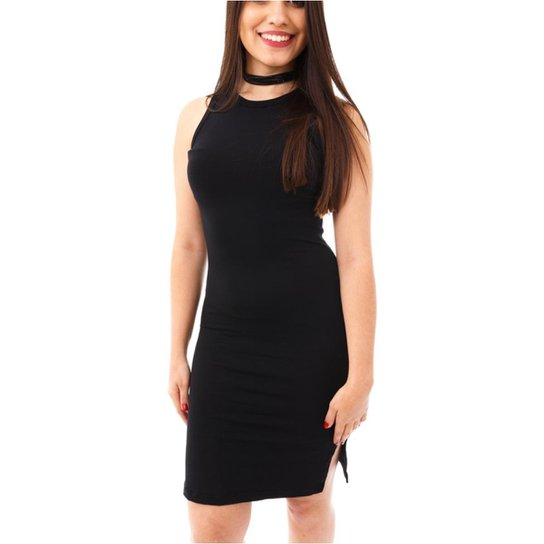 83f98baf3 Vestido Moda Vício Regata Decote Costas Feminino - Preto - Compre ...